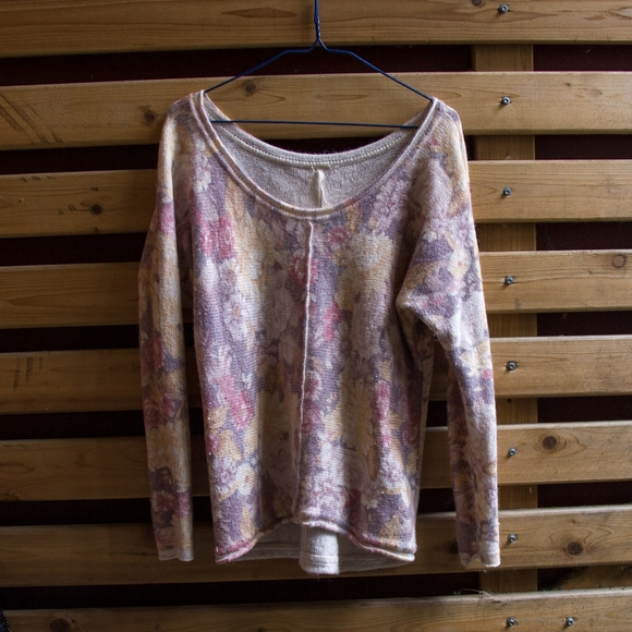 Free People Sweaters - Free people floral sweater